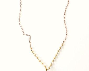 Vintage Blue Crystal Necklace, chandelier crystal necklace