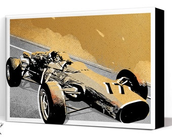 Car Art - Formula 1 vintage race car - Canvas Art Print, Automobile Art, Car Gift Garage Decor, Race Car, Man Cave Art, Garage Art, Auto art