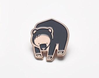 Winter Bear Enamel Lapel Pin