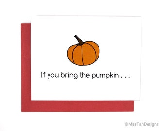 Holiday Gifts For Her - Pumpkin Spice - Valentines Day Cards Funny - Sexy Card - Adult