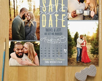 Rustic save the date magnets, save the date calendar rustic, photo wedding magnet, rustic wedding invitation, wedding save the date - 1702