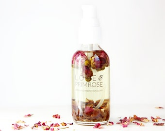 Rose Body Oil | Intensive Hydration | 100% natural and vegan moisturizer | Love & Primrose