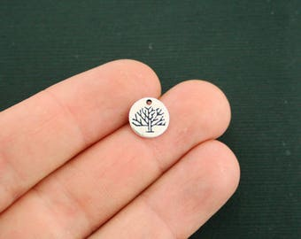 4 Tree of Life Charms Antique Silver Tone Small Size Beautiful Detail - SC7058 NEW5