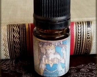 ATHENA Goddess Perfume Oil / Pomegranate Fig & Incense scent / Goddess inspired / Vegan perfume oil