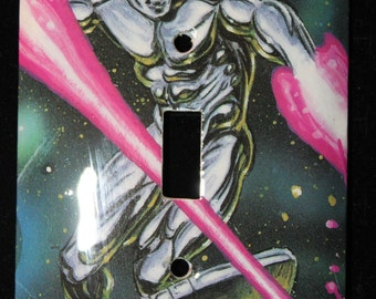 Silver Surfer Fantastic Four Marvel Comic Book Switch Plate Wallplate Light Cover
