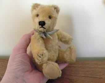 """Vintage Steiff Bear - 6"""" Mohair Teddy Bear - Steiff Original Bear - 1960's Steiff Teddy Bear"""