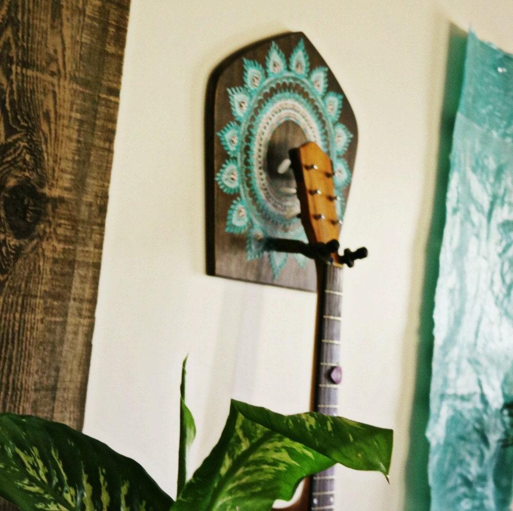 guitar holder guitar gift boho home decor instrument. Black Bedroom Furniture Sets. Home Design Ideas