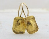 RESERVED  for Lori - Gold Earrings, 24k Gold  Earrings, Gold Wedding Earrings, Fine Gold  Earrings, Second Payment