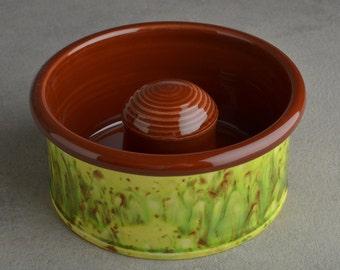 "Slow Feeder Dog Bowl Ready To Ship 6"" Dog Bowl by Symmetrical Pottery"