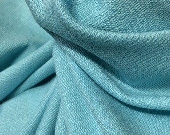 French terry Modal Supima cotton spandex Knit Fabric soft and luxurious Aqua