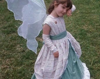 Frost Blue Twilight PIXIE FAIRY WINGS Masquerade ball Party costume xs Gypsy Spirit pirate night Faerie water witch disney dress up larp elf