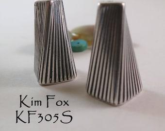 Art Deco Cones designed with a twist in silver by Kim Fox
