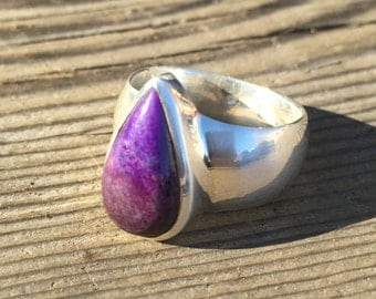 Sugilite Ring - US Size 8.5 - Sterling Silver Jewelry