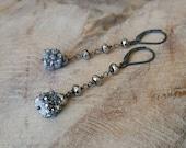 Druzy Earrings, Druzy Earrings Silver, Silver Druzy Earrings, Real Silver Druzy Earrings, Real Druzy Earrings, Druzy
