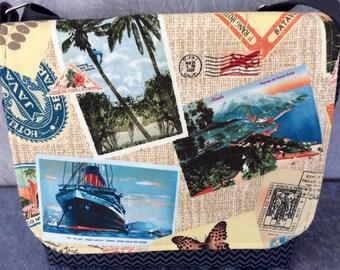 Messenger Bag Cross Body Bag Hemingway's Exotic Travels