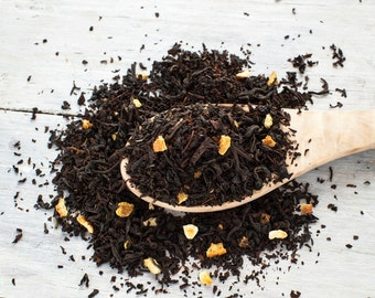 Orange Peel Organic Black Tea • 4 oz. Tin • Naturally Sweet Citrus Loose Leaf Blend