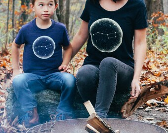 Little Dipper Matching Ladies Shirt & Toddler T-shirt Set. Mother son, daughter, sister child, Mother's Day gift, women's shirt, family