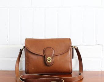 Vintage Coach Bag // Devon Bag Leather Messenger Pre 9908 // British Tan Crossbody Bag