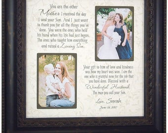 Mother of the Groom Gift, Parents of the Groom Gift, Personalized Photo Frame, Personalized Wedding Frame, wedding gift for in laws, 16 X 16