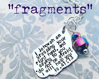fragments are a design-your-own Sterling Silver pendant and chain