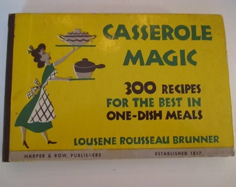 Recipe Book Cookbook Casserole Magic Vintage Recipes Beef Cabbage Rolls Beef Ragout Casserole Cookery Deep Dish Chicken Pie De Luxe