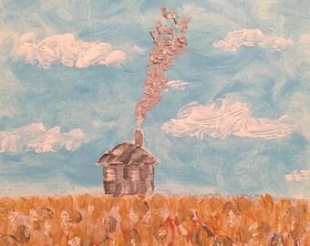 THE QUIET HOUSE Art Print on Cardstock