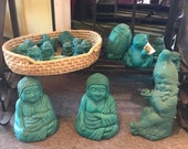 TURQUOISE STATUES 25% OFF - New just Discontinuing Color. Solid Stone, Sealed, Made for Outdoors Garden Aquariums Home Office Gift Decor.