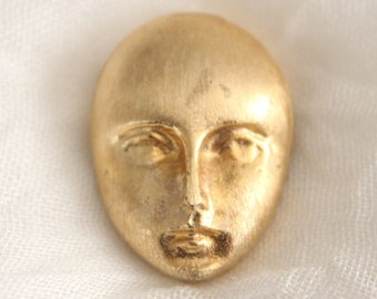 Vintage Gold Face Button Cover . Unsigned