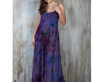 Purple Cami dress, Purple holiday dress, maxi dress plus size, evening dresses 2016, festival dress, loose tunic dress long bohemian dress