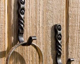 Rustic Metal Wall Hook/ Black Iron Hook/ Pots and Pans Hook/ Entryway/ Hand Forged Hook/  Jewelry Hook/ Deep Woods/ Log Cabin/ Heirloom Hook