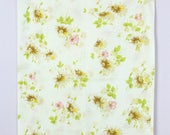 Vintage 1970's Pink + Yellow + Green Floral Daisy Pillowcase Pair