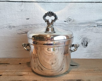 Rogers silver plated ice bucket.