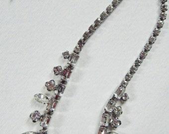 Vintage Rhinestone Choker// Black tie /wedding /formal jewelry