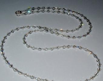 Sparkling Very Pale Gray Swarovski Crystal Necklace