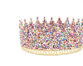 rainbow SPRINKLES full size lace crown    Unisex    Toddler-Adult    custom sizes    WATERPROOF    Love Crush Exclusive