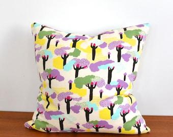 "Fantasy Tree Throw Pillow Cover 16"" x 16"""