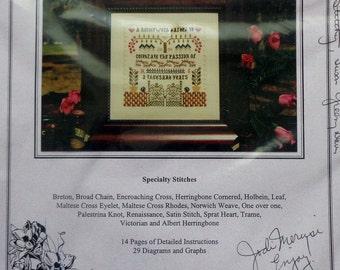 Rae Iverson Moss Creek Designs MILLENNIUM GARDEN GATE Sampler Celebrate The Passion - Counted Cross Stitch Pattern Chart Kit
