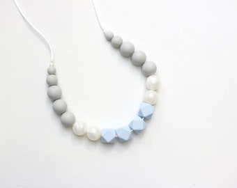 Silicone Teething Necklace | Nursing Necklace | Breastfeeding Necklace | Teething Necklace | Chewelry | Teething Jewelry | Serenity Hexi