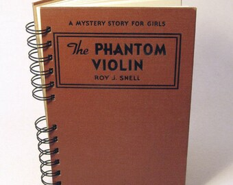 1934 THE PHANTOM VIOLIN Handmade Journal Vintage Upcycled Book Gift for Violinist