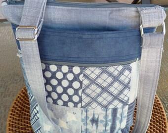 Handcrafted Cross Body Shoulder Bag/Sling Bag/Purse with Adjustable Strap, Outer Pockets