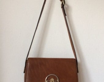 VIntage Igor Style brown leather shoulderbag