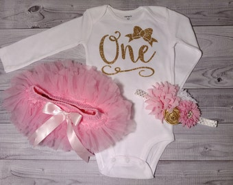 First birthday, outfit, girl, shirt, cake smash outfit, 1st birthday outfit, girls birthday outfit, girl, one year old, birthday, pink, gold