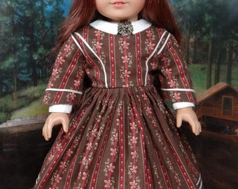 Civil War dress for American Girl or similar 18 inch doll.