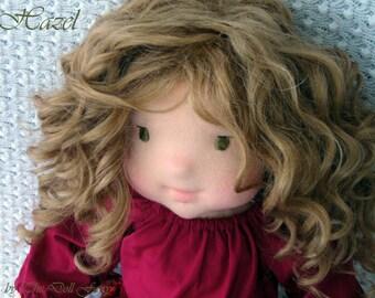 "CUSTOM Waldorf doll, natural fiber art doll, Waldorf inspired doll, 16"", doll, handmade Waldorf doll, organic Waldorf doll, DEPOSIT ONLY!"