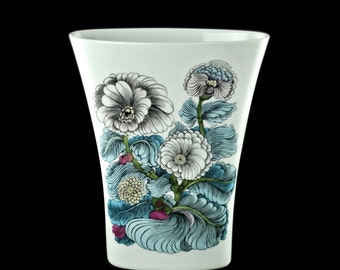 Large Vintage Alain Le Foll for Rosenthal Studio Linie Vase with Floral Motif