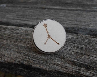 Constellation Pin. CHOOSE YOUR CONSTELLATION. Laser Engraved Wood. Custom. Tie Tack. Lapel Pin. Groomsmen, Groom, Anniversary. Cancer