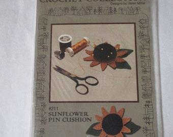 Sunflower pincushion crochet pattern