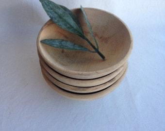 Set of Four Vintage Wood Bowls