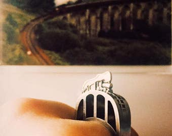 Hogwarts Express from Harry Potter silver ring by Tales of O. Jacobite train from Scotland