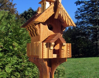 "Winged Cabin - 20"" Bird House"